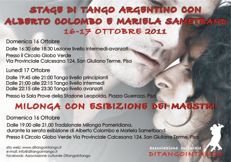 Alberto Colombo y Mariela Sametband 16-17 Ottobre 2011