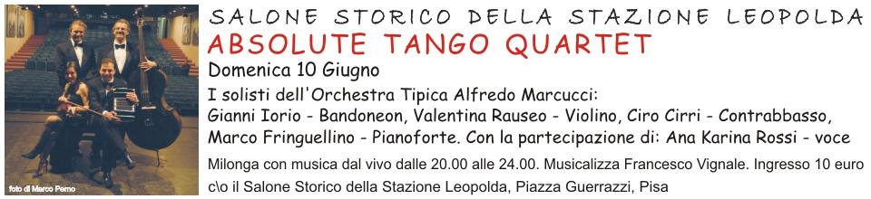 Absolute Tango Quartet 10 Giugno Stazione Leopolda Pisa