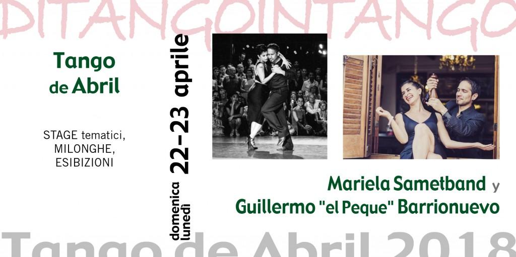 """Tango de Abril Mariela Sametband y Guillermo """"el Peque"""" Barrionuevo"""