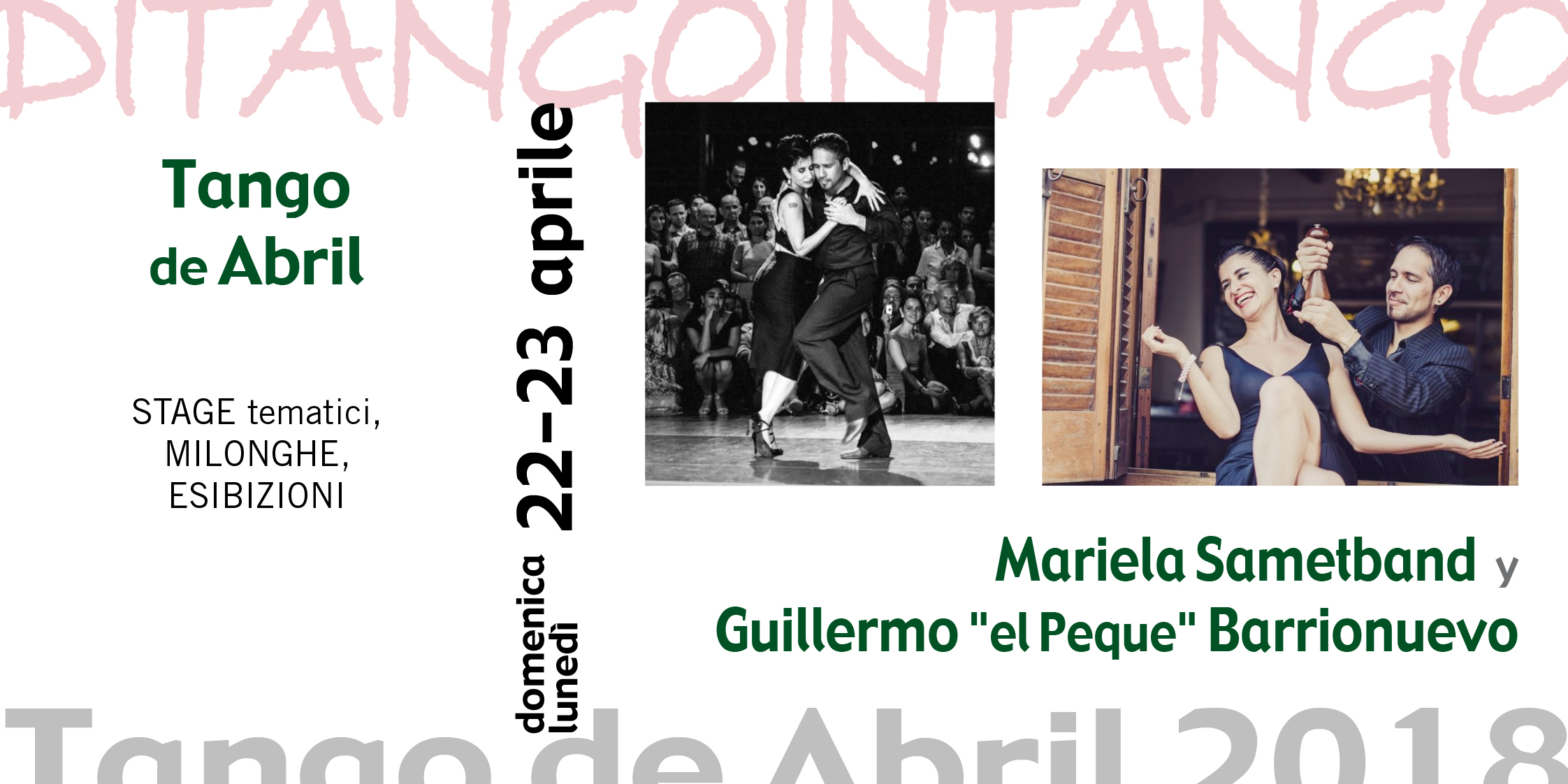 """Tango de Abril Mariela Sametband y Gulliermo """"el Peque"""" Barrionuevo"""